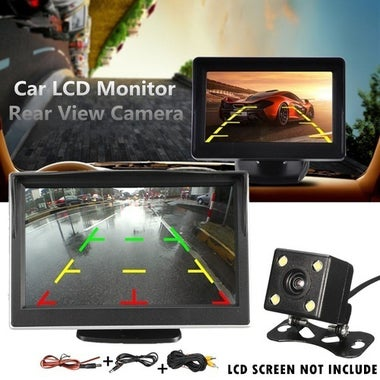 Waterproof 4 LED Night Vision Car CCD Rear View Camera Reverse Camera With 3 Gl