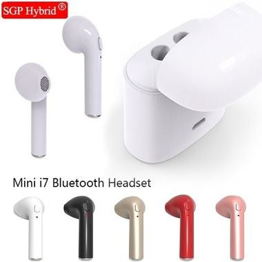 BOTH EAR Universal Bluetooth Earphone in Retail Box w/ Mic  (Apple, Samsung, And