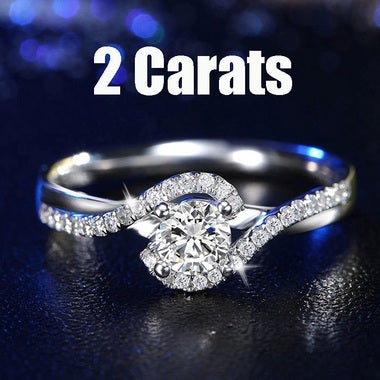 Trendy Jewelry White Gold Plated White Zircon Ring For Female