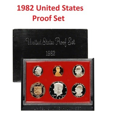 AUTHENTIC 1982 UNITED STATES 6 COIN PROOF SET