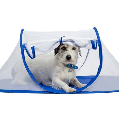 Pet Portable Foldable Play Indoor / Outdoor Tent - New Small Blue Pet Tent, Perf