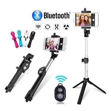 3 in1 Selfie Stick Monopod Extendable Handheld Tripod Bluetooth Wireless Shutter