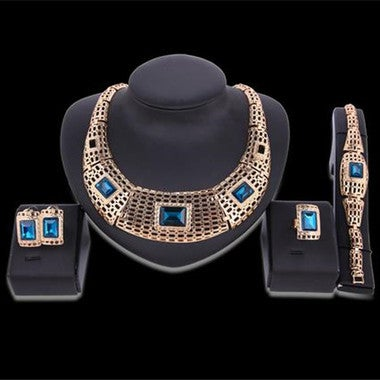 Fashion Lady's Plated 18K Jewelry Set Jewelry Set Four Pieces Wedding Jewelry Se