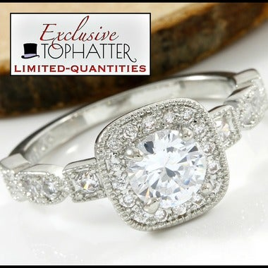 1.60ctw 18k White Gold Triple Dipped. AAA Grade White CZ