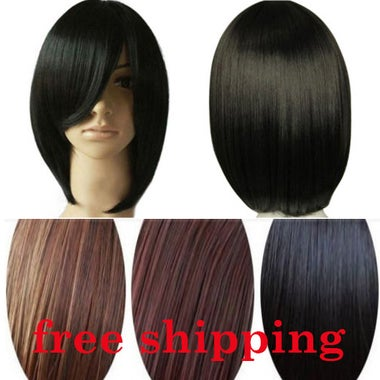 Fashion Short Wig Straight Party Synthetic Cosplay Women's Hair Wig 30cm Wigs