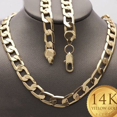 10mm Wide Cuban Link Gold Filled Chain (FJ583901) 28