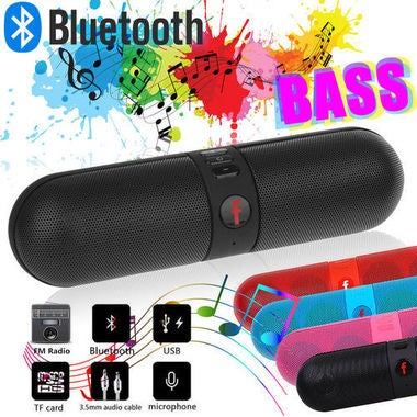 Mini Portable Bluetooth Speaker Hands-free Stereo FM Radio For MP3/MP4/CD Player