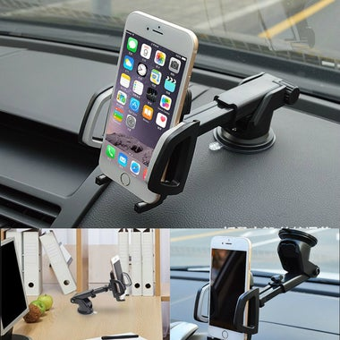 Universal 4- 6 inch Retractable Windshield Dashboard Car Phone Stand Holder GPS