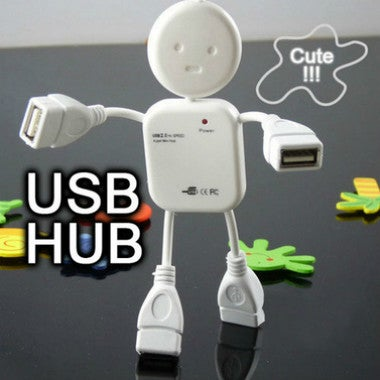 USB HUB 4 Port Cute!!! Lovely Human Shape Hub With 4 Ports Expansion For Laptop