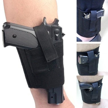 Universal Tactical Adjustable Concealed for Ankle Leg Pistol Gun Holster (Color: