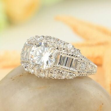 Jewelry High Quality White Cz Wedding Ring Gift A31