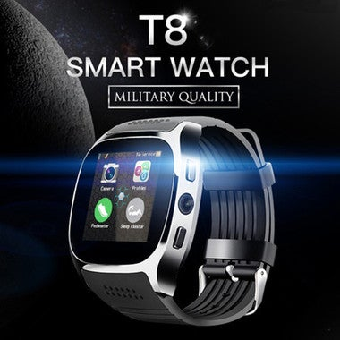 Professional T8 Bluetooth Smart Watch Support SIM and TFcard,Camera 2.0MP Camery