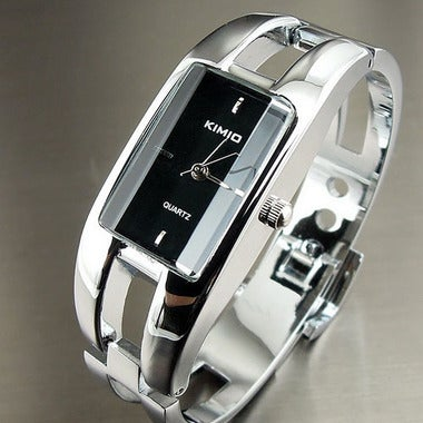 KIMIO Rectangle Hand Ring Bracelet Woman's Watch Ladies Watch