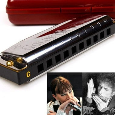 10 Holes Swan Harmonica Diatonic Blues Harp C Keys Mouth Organ for Blues