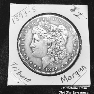 Tribute 1893-S Morgan $1 Silver Dollar *KING* of the Morgan Dollar Series
