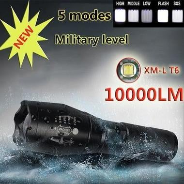 Brand New E17 XM-L T6 10000LM Aluminum Waterproof Zoomable CREE LED Flashlight