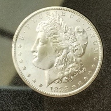 1883CC Collectors Uncirculated One Troy Ounce .999 Silver Clad 1883 CC Morgan