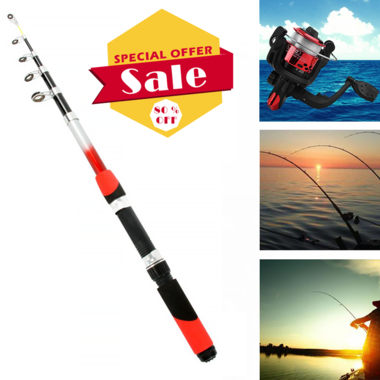 Glass Fiber Telescopic Fishing Rod 1.8M