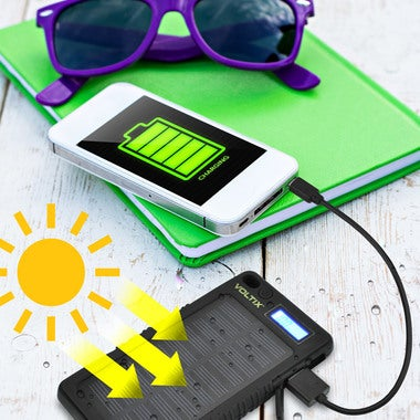 High Powered 8000 mAh Solar Power Bank With LCD Display