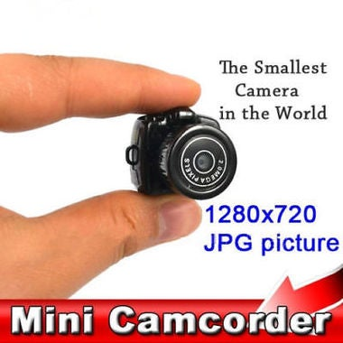 WD Fashion Black Mini HD Smallest Camera Camcorder Video Recorder DVR Spy Hidden