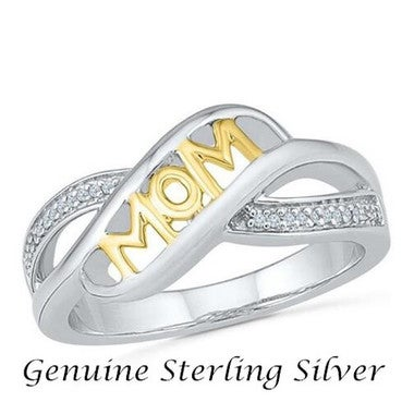 Mother Christmas Gift Love Mum Cross Ring in Sterling Silver Ring
