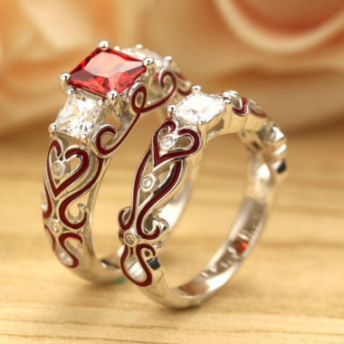 Fashion Couple Zircon Rings  For couple Friends Gifts