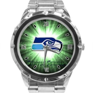 Seattle Seahawks Photo Custom Stainless Steel Analogue Men Or Women Watch Best G