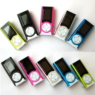 Sport MP3 Media Player New Mini Hot Selling Music Player Shiny Mini USB