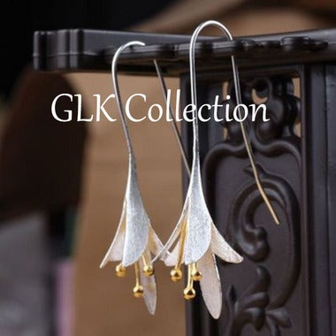 Lily Flower Hook Earrings - GLK Collection