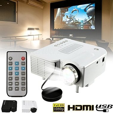 Mini Projector, UC28B Portable Home Theater Multimedia LED Projector Support USB