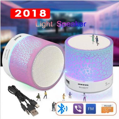 LED Bluetooth Wireless Speakers With TF USB FM Sound Music for Mobile Phones