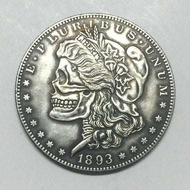 Hobo Nickel 1893-S ETATS-UNIS Morgan Dollar COIN COPIE collection