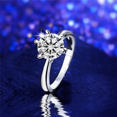Elegant 18K White Gold Filled Fancy Ring
