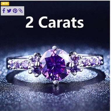 Purple zircon ladies ring