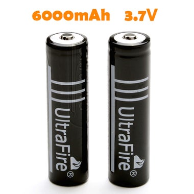 2pcs 18650 3.7V 6000mAh Lithium Rechargeable Battery