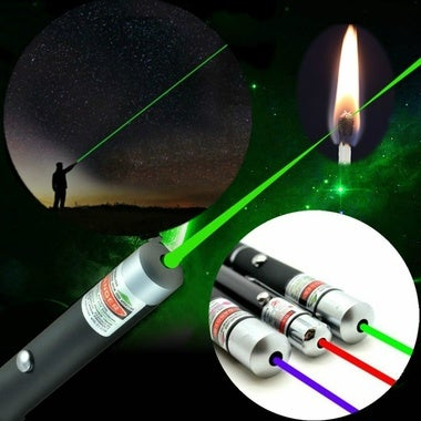 Powerful Green Red Blue Laser Pointer Pen Beam Light 5mW Professional Military H