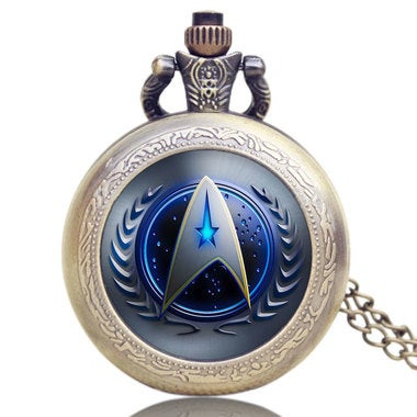 Hot Selling Style Star Trek  Pocket Watch With Necklace Chain