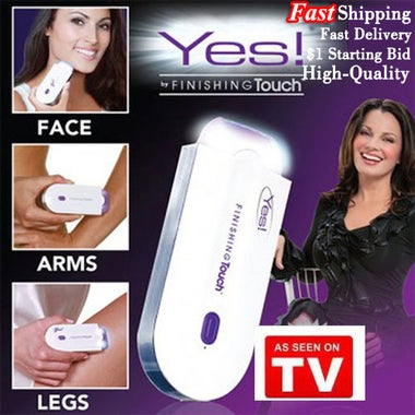 Fast Shipping !! YES Hair Remover Finishing Touch Unisex Instant & Pain Free Hai