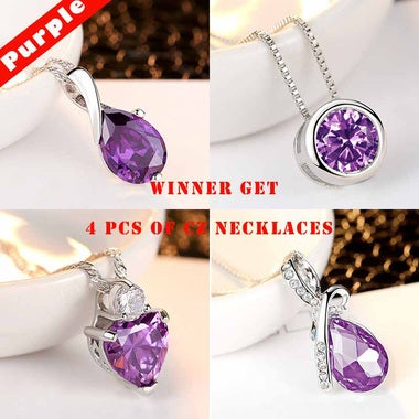 Winner Get All 4 pcs of Luxury Purple Jewelry