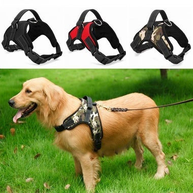 Pet Supplies Large Dog Chest Harness Vest Soft Adjustable Harness Collar Dog Che