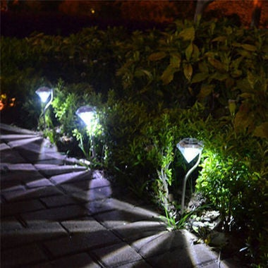 Solar Color-Changing Power Yard Garden Light Waterproof LED Outdoor Lamp