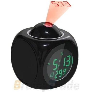 NEW Multifunction Vibe LCD Talking Projection Alarm Clock Time  amp; Temp Displa