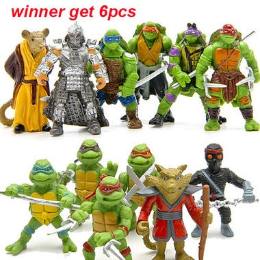 6pcs/lot Turtle action FigureToys Set (Random)