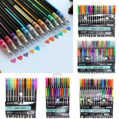 12pcs Pastel Multicolor Refills Gel Pen Set RefillsSketch Drawing Color Pen Scho