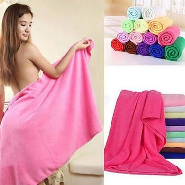 1X Large Towels Microfiber Multi-function Soft Pool Spa Beach Bath Towels Useful