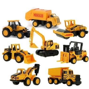 6Types Children's Forklift Simulation Inertial Excavation Engineering Vehicle Al