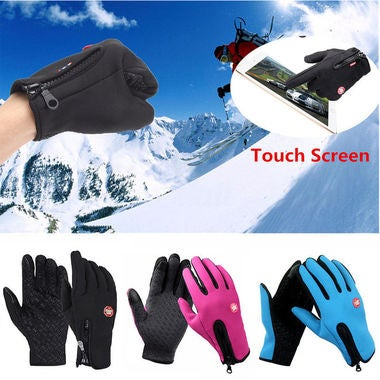 Mens Womens Outdoor Skip Sport Gloves Windproof Warm Touch Screen Winter Mitts