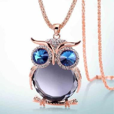 Fashion Crystal Owl Necklace