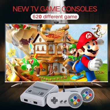 Super MINI SFC retro TV Built-in 620 classic different Games Controller gift
