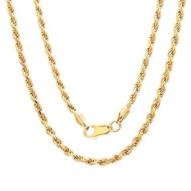 14K Gold Filled Solid Rope Necklace 20